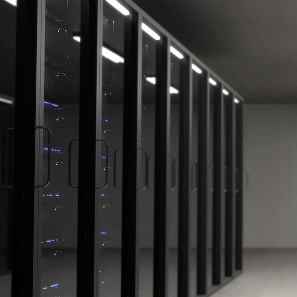 Data center with servers.
